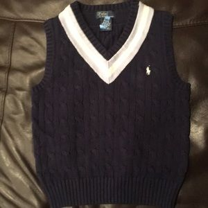 Ralph Lauren polo sweater vest boys 6